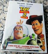 Toy Story And Toy Story 2 Brand New Rare 2 Disc Dvd Set Disney Made In The U.s.a.