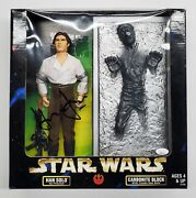 Harrison Ford Signed Han Solo In Carbonite 12 Figure Toy Star Wars And Kenner Jsa