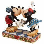 Enesco Disney Traditions Mickey And Minnie Mouse Kissing Figure