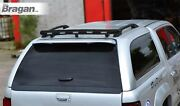 To Fit 2005-2016 Nissan Navara D40 Black Rear Canopy Roof Bar + 3 Function Leds