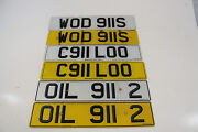 Porsche 911 S 930 Rs Number Plate Signs Gb Private Plate Registration Plates