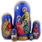 D Russian Souvenirs Nesting Dolls And039nativityand039 Matryoshka Religious Gifts 5 Pc