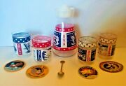 Vintage 11 Pc Apollo Set Carafe, Glasses, Patches And Spoon Moon Missions Set