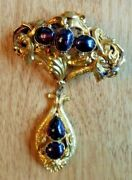 Antique Victorian Ladyand039s Vintage Pendant-pin Ca 1850and039s. 18kt Gold With Appraisal