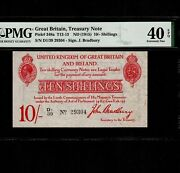 Great Britain England 10 Shillings 1915 P-348a Pmg Xf 40 Epq King George