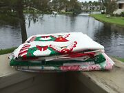 Vtg Lot Of 8 Fabric Panel Cut And Sew Christmas Ornaments