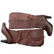 Dolce Vita Knee High Boots Tobacco Brown Leather Women's Size 8.5