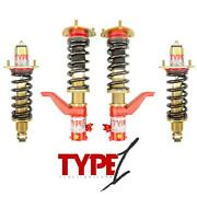 F2 Function And Form Coilovers For Honda Civic And Si Ep3 01-05 Type 1 F2-ep3t1