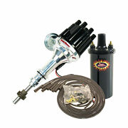 Pertronix D130700 45001 808280 Ford 289-302 Distributor Chrome Coil And Blk Wires