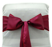 Darling Souvenir Pack Of 300 Satin Chair Sashes Bow Sash For Wedding-a8t