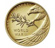 End Of World War Ii 75th Anniversary 24-karat Gold Coin And 1 Oz Silver Medal Set