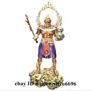 Fengshui Home Decoration Copper Hand-painted China Mythology God Of Fire Statue