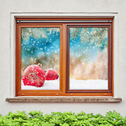 3d Bells A41 Christmas Window Film Print Sticker Cling Stained Glass Xmas Zoe