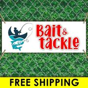 Bait And Tackle Advertising Vinyl Banner Flag Sign Many Sizes Free Grommets