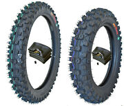 Wig Racing 80/100-12 3.00x12 And 60/100-14 2.5x14 Tire And Tube Combo