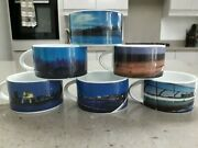 Royal Doulton Fine China Club Europe Rare Collectables 6 Cups British Airways