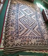 Antique Large Kilim Rug Afghan Nomadic Family Woven In One Piece 9and0397 X 5and0399