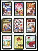 2013 Wacky Packages Series 11 Complete Rude Food And Coming Distraction Insert Set