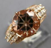 4.71ct Diamond And Aaa Morganite 14kt Yellow Gold 3d Classic Round Engagement Ring