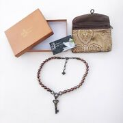 Barbara Bixby Key Charm Sterling Silver And 18k Necklace W/ Honora Brown Pearls
