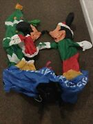 Vintage Christmas Yard Mickey And Minnie Air Blow Up