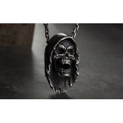 Menand039s Womenand039s Real Solid 999 Sterling Silver Pendants Skull Fashion Jewelry