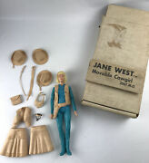 Vintage Marx Jane West Movable Cowgirl With Accessories And Box 2067