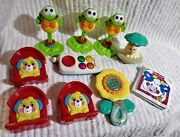 Fisher Price Toys Rattles 1999 2001 Phone Frog Baby Toddler Mc Lot Of 10 Vintage