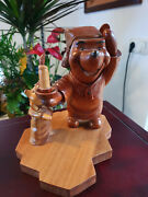 Extremely Rare Walt Disney Winnie The Pooh Spooky Night Figurine Wooden Statue