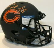 Brian Urlacher Signed Inscribed Bears Full Size Authentic Eclipse Helmet Bas Coa