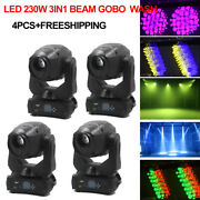 3in1 230w Led Beam Spot Wash 3 In 1 Moving Head Stage Light Double Prism 8+t6