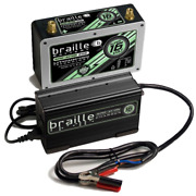 Braille Auto Battery B168lc Lithium Ion Super 16 Volt Battery W/charger