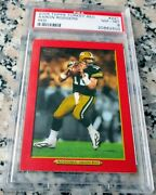 Aaron Rodgers 2005 Topps Turkey Red Rare Sp Rookie Card Rc Psa 8 Mvp Hot