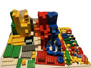 662 Lego Duplo Blocks Lot Classic Colors Cars Figures Flat Ground Extra Pieces