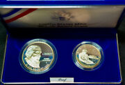 1993-s Proof Bill Of Rights 2 Coin Set Silver Dollar And Half Dollar 5504