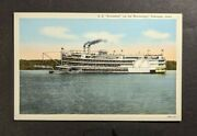 Mint Vintage Ss President On Mississippi Dubuque Iowa Picture Postcard