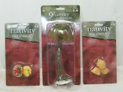 Holiday Time Nativity Accessories Fruit Vegetable, 9 Palm Tree, Exc. Condition