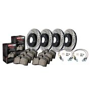 Stoptech 979.33036 Sport Axle Pack Drilled Rotor Brake Kit For 08-08 Vw R32 New