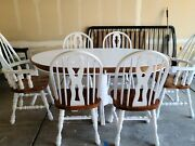 Refinished Dining Table With 6 Chairs