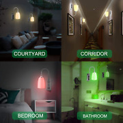 Wall Light Sconce Lamp Battery Powered Led Remote Controlled Wireless Multicolor