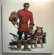 Arnold Friberg Canvas Rcmp Royal Canadian Mounted Police Companions On The Trail