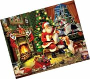 White Mountain Puzzles Checking It Twice - 1000 Piece Jigsaw Puzzle Single