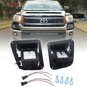 Fit 14-21 Toyota Tundra Led Fog Light Pods Front Bumper Mount+plugandplay Wire Kit