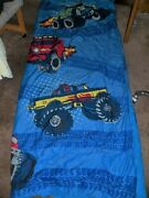 Kids Monster Truck Bedspread Comforter Beddingtwin/youth Bed 66x82 Collectible