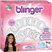 Hair Fashion Play Set Blinger Jewel Refill 180 Gems Shapes Colors Girls Gift Toy