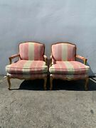 Pair Of Chairs French Armchairs Sheraton French Provincial Neoclassical Wood Sha