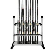 Bigtron Fishing Rod Rack Holder Stand Tackle For Fishing Rod Set Capacity 24p...