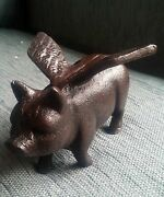 Charming Cast Iron Flying Pig Ornaments - Ideal For The Garden And As A Decor...