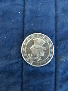 Extremely Rare Walt Disney Sterling Silver Scrooge Mcduck First Cent Coin 1947