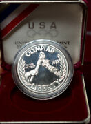 1988-s 1 Olympic Proof Coin Set As Issued By The U S Mint Box And Coa